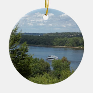 Mississippi River boat Round Ceramic Decoration