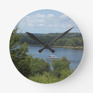Mississippi River boat Round Clock