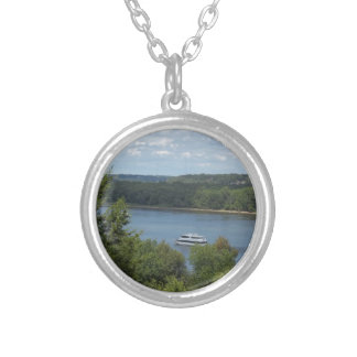 Mississippi River boat Silver Plated Necklace