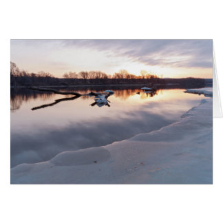 Mississippi River Daybreak in South St Paul Card