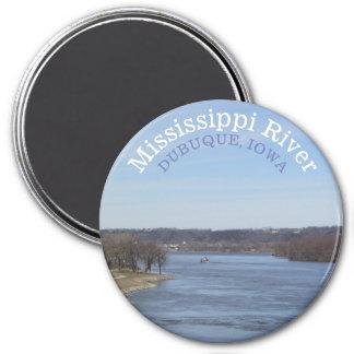 Mississippi River, Dubuque Iowa Souvenir Magnet