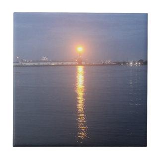 Mississippi River Sunrise Ceramic Tile