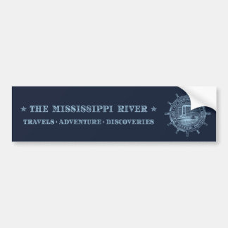 Mississippi River. Travels. Adventure. Discoveries Bumper Sticker