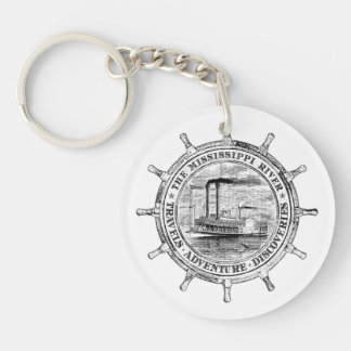 Mississippi River. Travels. Adventure. Discoveries Key Ring