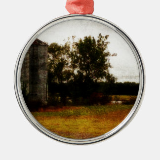 Mississippi Silos Silver-Colored Round Decoration
