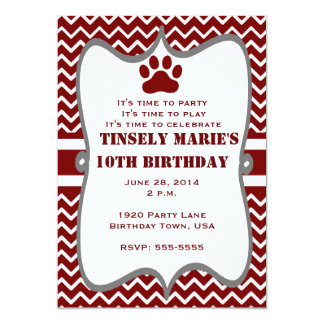 Mississippi State Bullogs Birthday Invitation