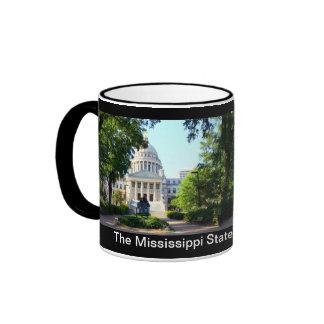 Mississippi State Capitol Building - Jackson Ringer Mug