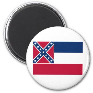 Mississippi State Flag 6 Cm Round Magnet