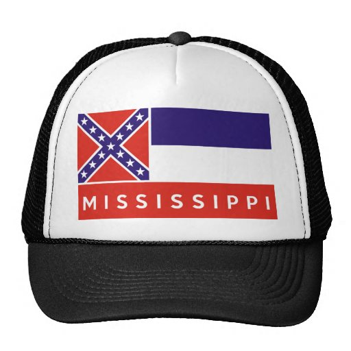 mississippi state flag america country text name trucker hat