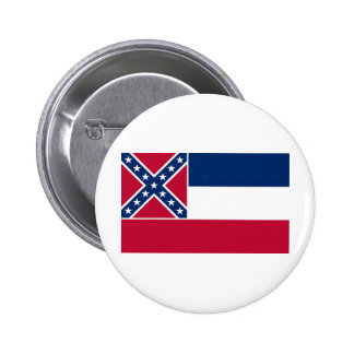 Mississippi State Flag Pinback Button