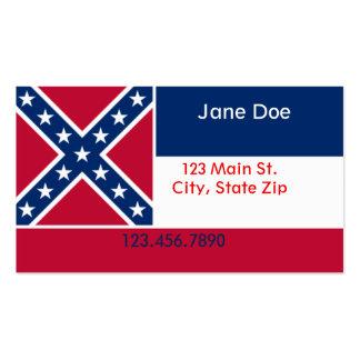 Mississippi State Flag Business Cards
