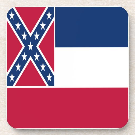 Mississippi State Flag Drink Coasters