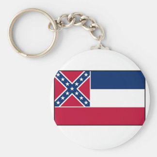 Mississippi State Flag Keychain