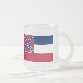 Mississippi State Flag Frosted Glass Mug