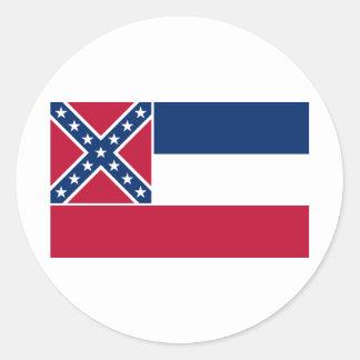 Mississippi State Flag Round Sticker