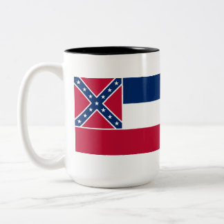 Mississippi State Flag Two-Tone Mug