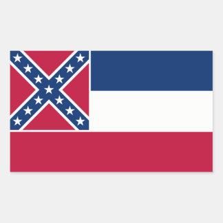 Mississippi State Flag, United States Rectangular Sticker