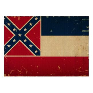 Mississippi State Flag VINTATE.png Business Cards