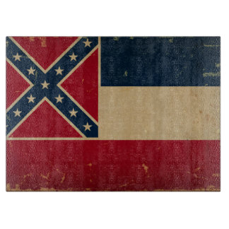 Mississippi State Flag VINTATE.png Cutting Board