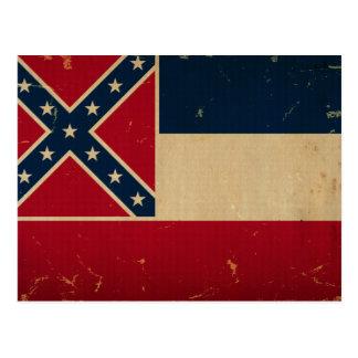Mississippi State Flag VINTATE.png Postcard