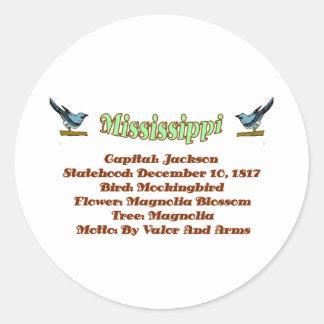 Mississippi State Info Sticker
