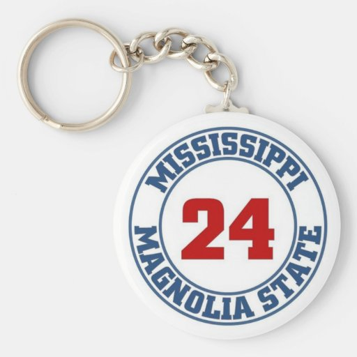 Mississippi State Keychain