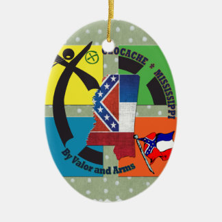 MISSISSIPPI STATE MOTTO GEOCACHER CERAMIC ORNAMENT