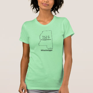 Mississippi state of happiness t-shirt map