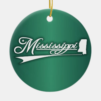 Mississippi State of Mine Ceramic Ornament