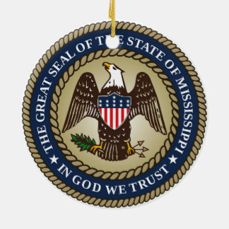 Mississippi state seal america republic symbol fla ceramic ornament