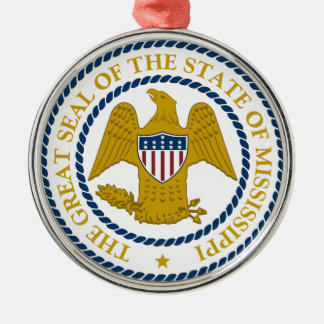 Mississippi State Seal Metal Ornament