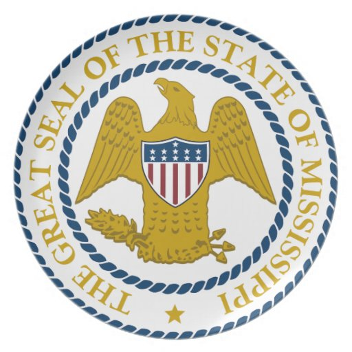 Mississippi State Seal Plate