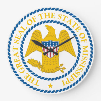 Mississippi State Seal Wall Clock