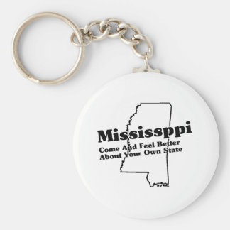 Mississippi State Slogan Basic Round Button Key Ring
