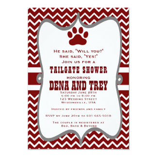 Mississippi State Tailgate Shower Invite