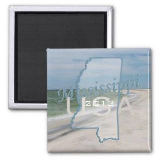 Mississippi State USA Travel Souvenir Magnet