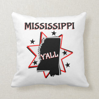 Mississippi State Y'all Throw Pillow