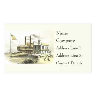 Mississippi Steamboat City of Memphis, 1860 Business Card Template