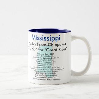 Mississippi Symbols & Map Coffee Mugs