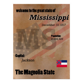 Mississippi The Magnolia State Classic Poster
