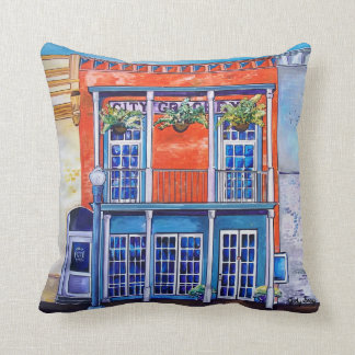 Mississippi Town Square & Courthouse Throw Pillow