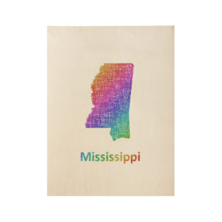 Mississippi Wood Poster