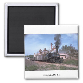 Mississippian RR 2-8-0 Fridge Magnets