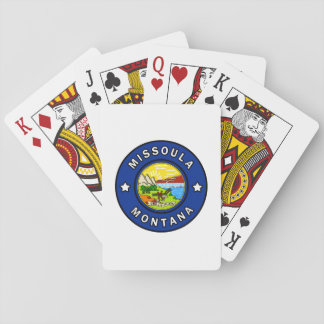 Missoula Montana Playing Cards