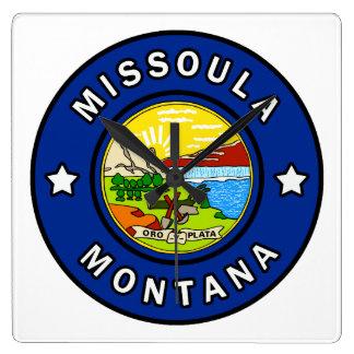 Missoula Montana Square Wall Clock