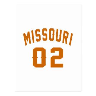 Missouri 02 Birthday Designs Postcard