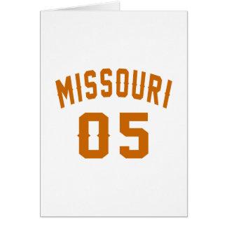 Missouri 05 Birthday Designs Card