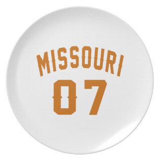 Missouri 07 Birthday Designs Plate