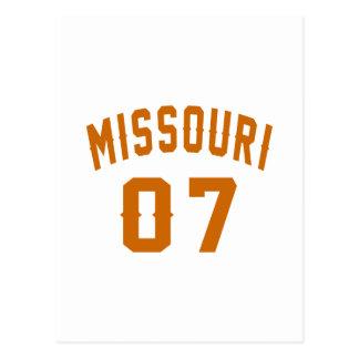 Missouri 07 Birthday Designs Postcard