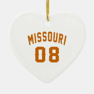 Missouri 08 Birthday Designs Ceramic Ornament